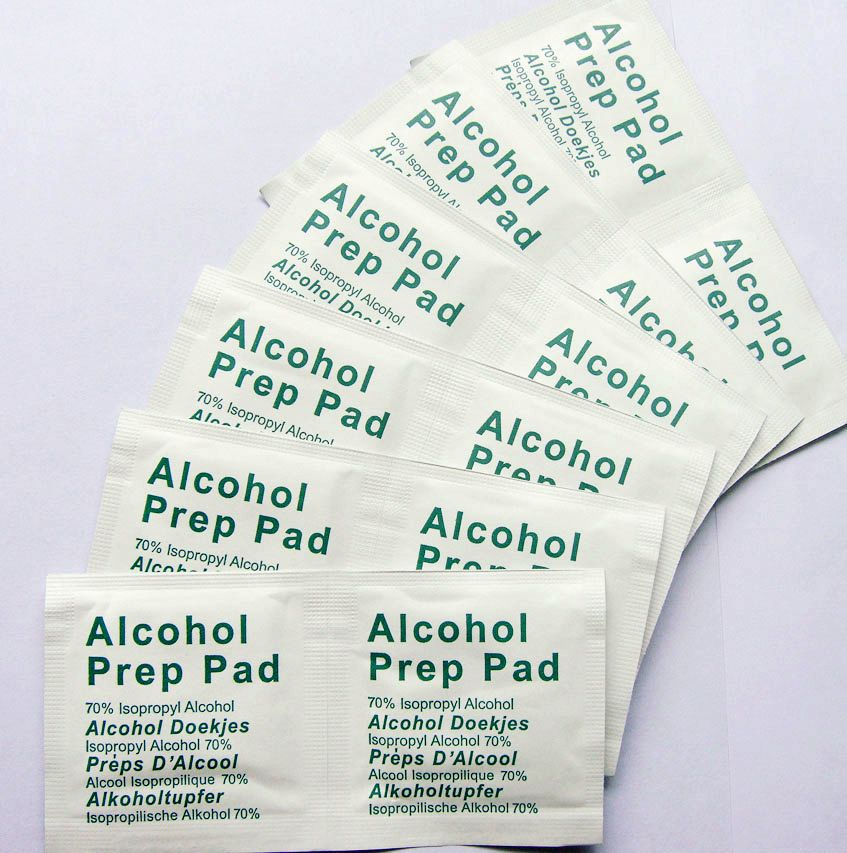 The 70% Alcohol Prep Pads 6x6cm