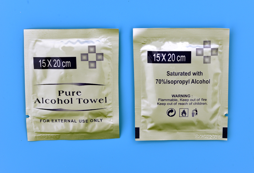 IPA alcohol wet cleaning wipes