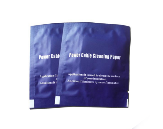 Power optical cable cleaning paper