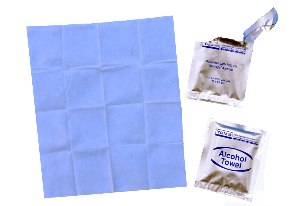 alcohol moist wipes