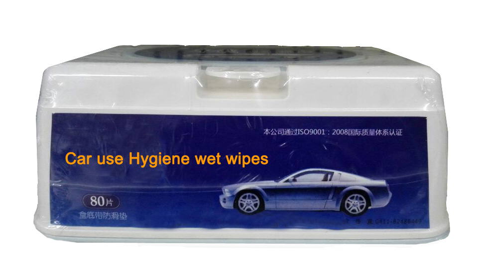Disinfectant moist wipes for car and auto use