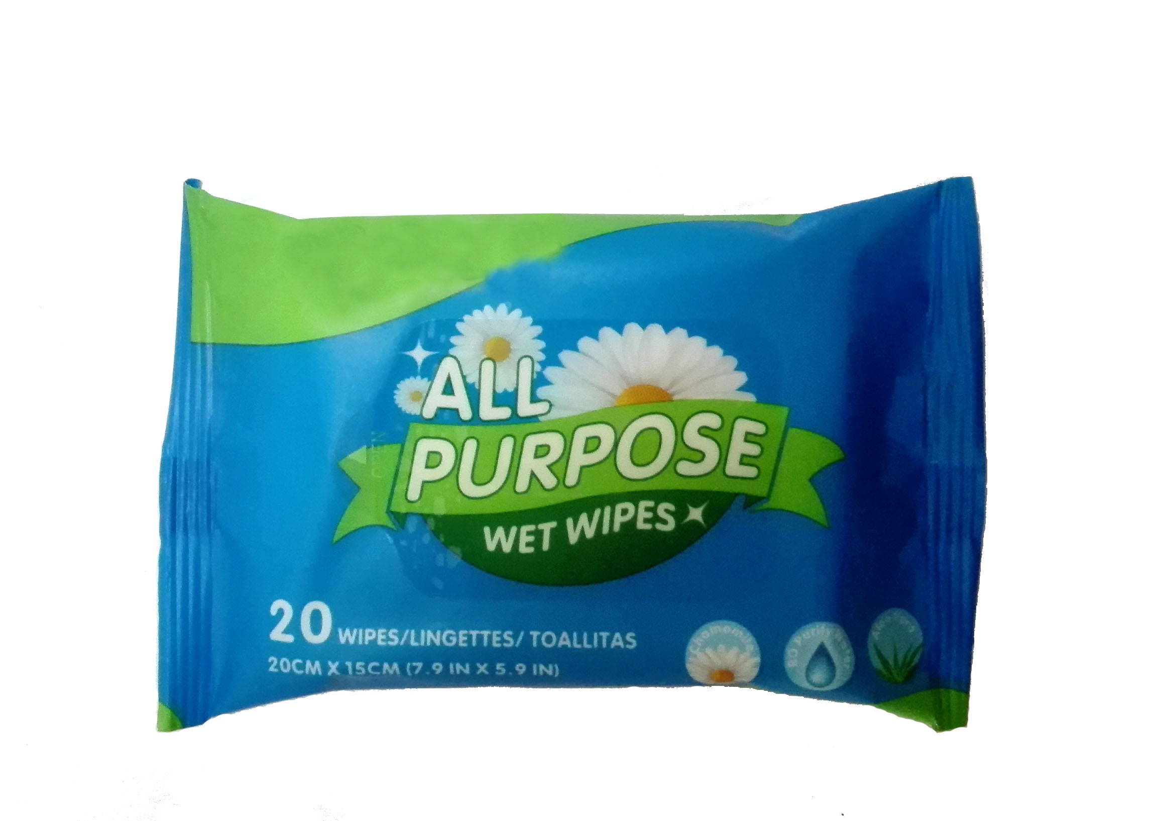 Antibacterial Hygiene wipes with Aloe Vera