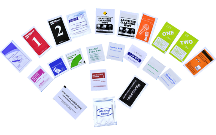 Private label service for the Individually wrapped wipes