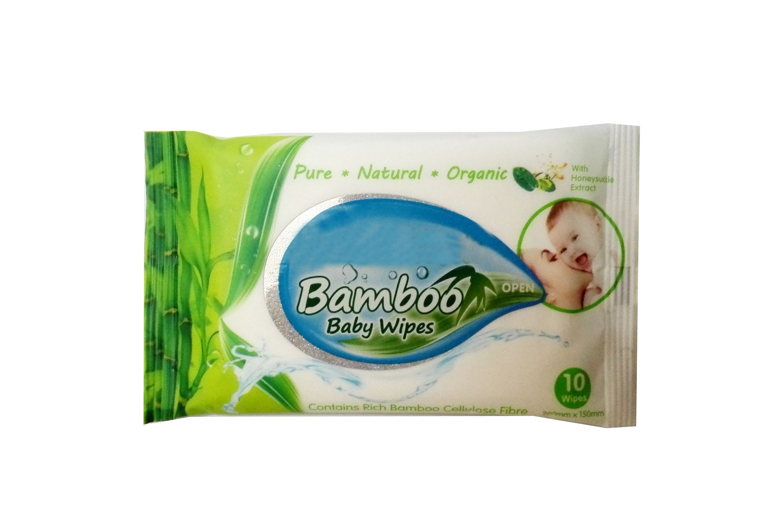 Bamboo baby wipes of 10pcs