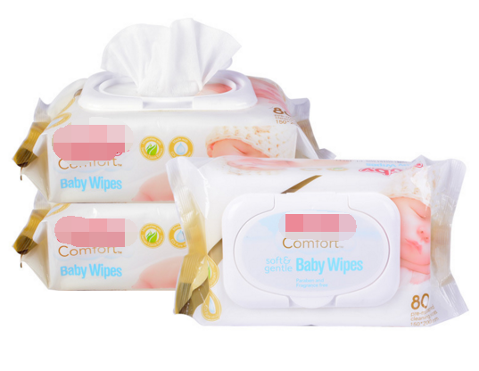 Natural Biodegradable Flushable baby wipes 80pcs