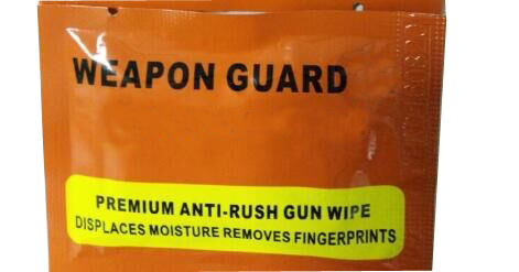 Anti rush gun wet wipe