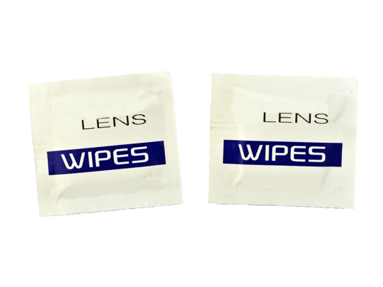Singe pack Lens cleaning wipes