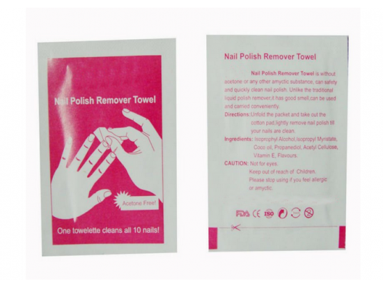 Nail polish remover cleaning wet wipes