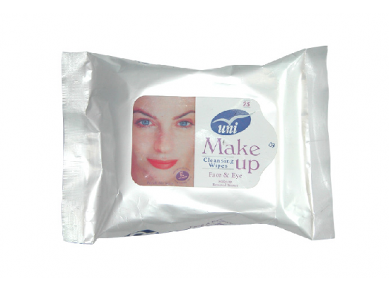 cosmetic makeup remover cleaning wipe