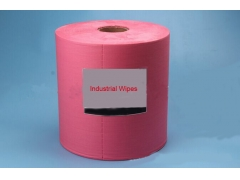 Red multi use  Degreasing Nonwoven Roll Wipes
