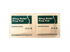 The Sting Relief cleaning wet prep wipes