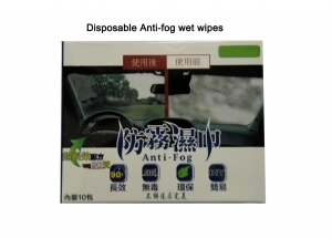 Individually packed Windscreen Anti fog wet wipes