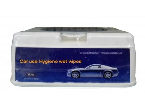 Vehicular Car Cleaning Wet Wipes in box 80pcs