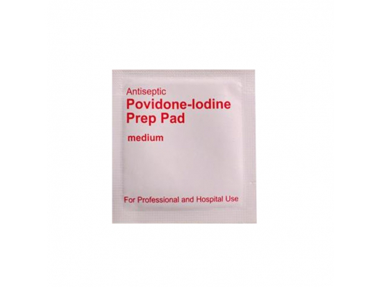 Medical antiseptic Povidone iodine wipes