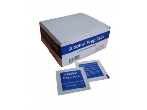 Medical alcohol prep wipes