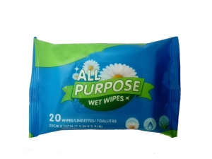 Disposable travel pack Fresh Care Wet Wipes with aloe vera