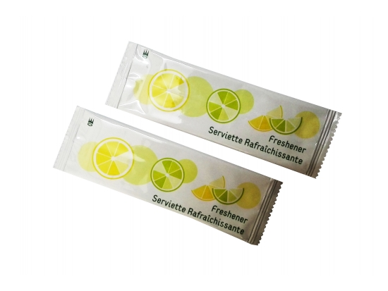 Handy Freshener Singe packed Lemon Wipes