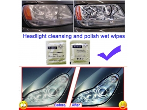 Headlight Cleansing and Polish Wet Wipes
