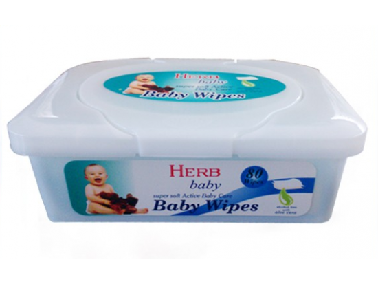 100% Biodegradable Flushable Baby Wipes in box