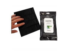 Black Charcoal Cloth Facial Wipes